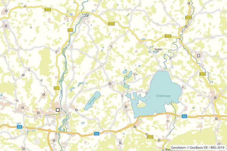 Wohnmobilvermietung zwischen Rosenheim und Chiemsee